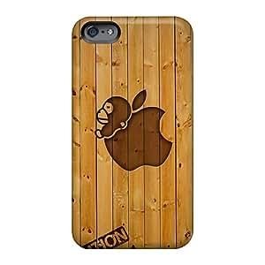 Bumper Hard Phone Cover For Apple Iphone 6 (MMR862PpED) Unique Design Fashion Bape Bar Wood Image