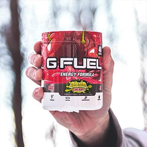 G Fuel Sour Cherry Tub 10.44 oz 40 Servings Elite Energy and Endurance Formula