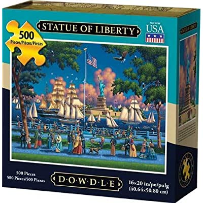 Dowdle Jigsaw Puzzle - Statue of Liberty - 500 Piece: Toys & Games