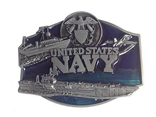 US Navy Men's Belt Buckles Metal Western American Bolo Tie for Leather Belt