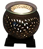 Coo Candles Electric Candle Warmer or Oil Burner Lamp Combo - Jasmine (Brown)