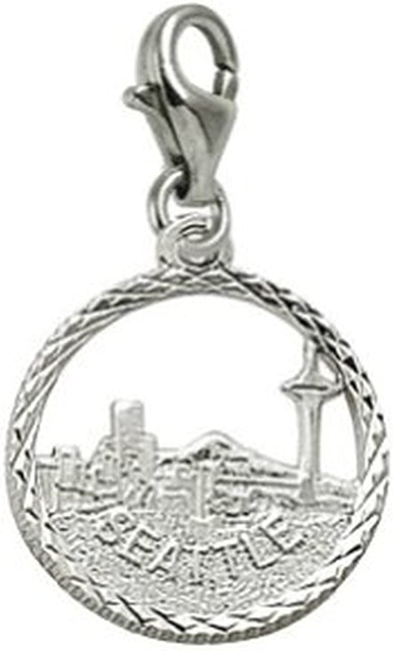 Seattle Skyline Charm With...
