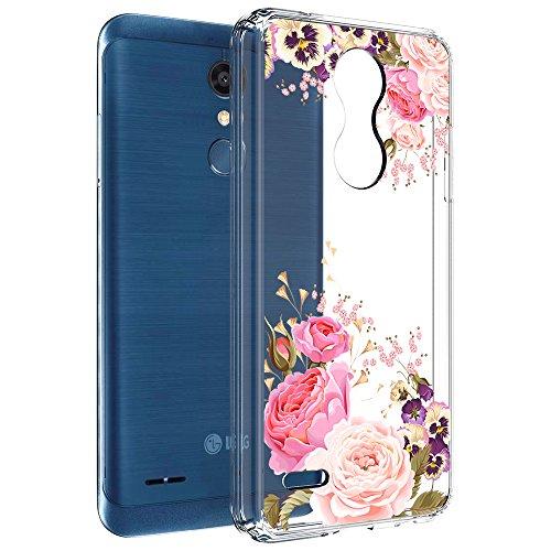 LG K30 Case (X410), LG K10 2018 Case (MS425), LG Premier Pro Case, Vinve [Crystal Clear] Anti-Scratch Shockproof Cover Clear Hard Back Panel + TPU Bumper Slim Case for LG K10 2018 / K30(Peony)