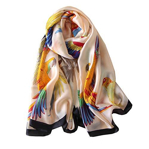 FM Womens Mulberry Silk Scarves Long Satin Lightweight Scarf For Women (P) ()
