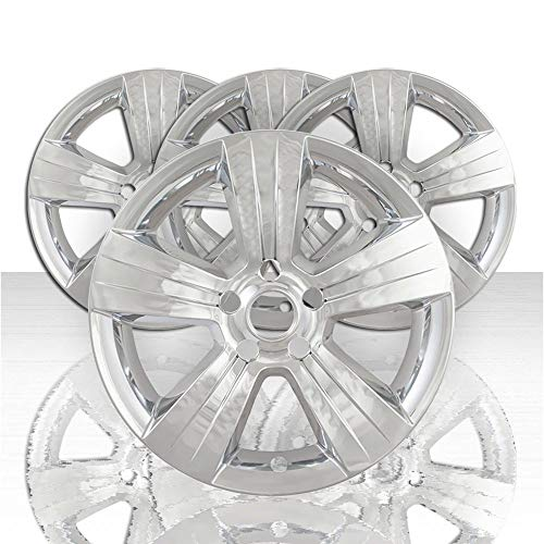 "Auto Reflections Set of 4 17"" 5 Spoke Wheel Skins for 2011-2017 Jeep Patriot - Chrome"