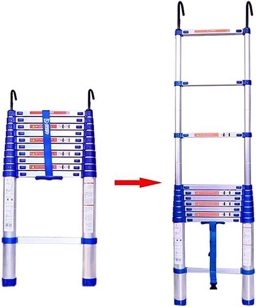 Escalera extensible/ Escalera telescópica 3 m / 10 pies azul ...