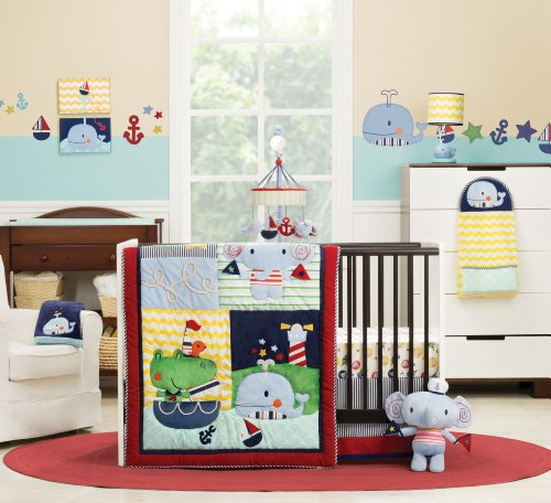 Kidsline 6 Piece - Kids Line Crib Set, Sail Away, 6 Piece