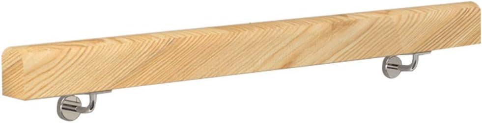 50-300cm. Pasamanos con Soporte de Acero Inoxidable - Kit Completo. para Interiores y Exteriores, escaleras de Madera barandilla de la Escalera barandilla de Apoyo: Amazon.es: Hogar