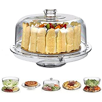HBlife 6-in-1 Acrylic Cake Stand Multifunctional Serving Platter and Cake Plate With  sc 1 st  Amazon.com & Amazon.com   Circleware Sophisticate 6 in 1 Glass Cake Plate: Cake ...