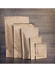 1000 Pcs Mylar Bag Natural Kraft Barrier Pouches With 4 X 6 X 2 5