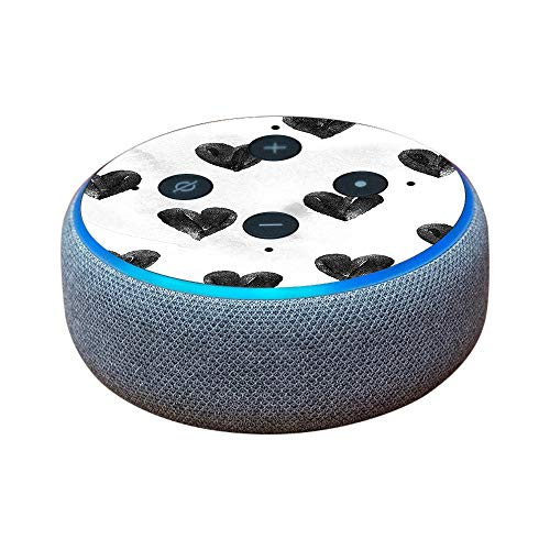 MightySkins Skin Compatible with Amazon Echo Dot (3rd Gen) - Ink Hearts   Protective, Durable, and Unique Vinyl Decal wrap Cover   Easy to Apply, Remove, and Change Styles   Made in The USA