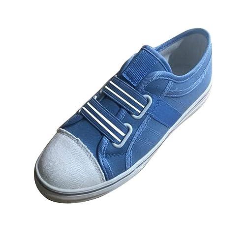 Bluestercool Scarpe da Donna Rotondo Punta Casual Sneakers