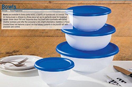 Sterilite 07479406 8 Piece Covered Bowl Set, White & Blue by STERILITE (Image #2)
