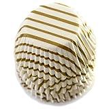 Norpro Gold Swirl Mini Cups, 100-Pack