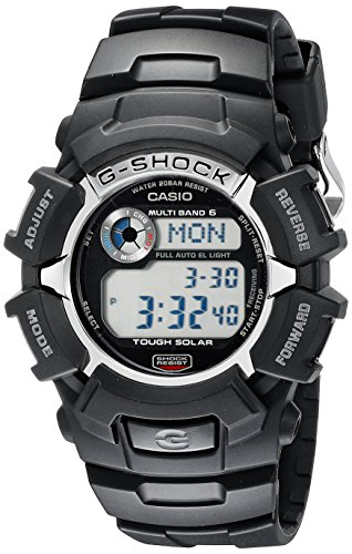 - Casio Men's G-Shock GW2310-1 Tough Solar Atomic Black Resin Sport Watch