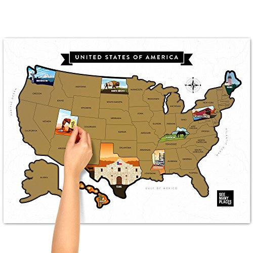 Scratch Off US - USA Map - United States Travel Road Trip Tracker ...