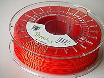 TreeFLX 3D TPU Premium European 3D Printer Filament, 750g Spool,-1.75mm- True Ruby Red Dimensional Accuracy +/- 0.03 mm