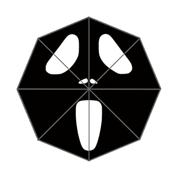 Xinzuo Halloween fantasma boo paraguas plegable Viajes al Aire Libre anti-UV paraguas