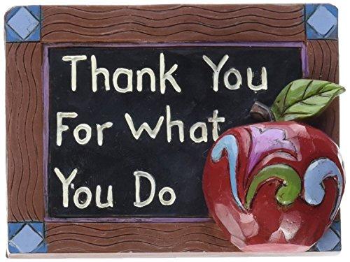 Enesco Heartwood Teacher Chalkboard Figurine