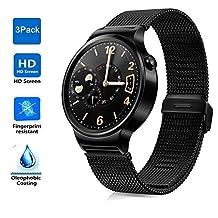Huawei Watch screen protector, KuGi Ultra-thin (3 Pack) HD clear protector for Huawei Watch (3 pcs)