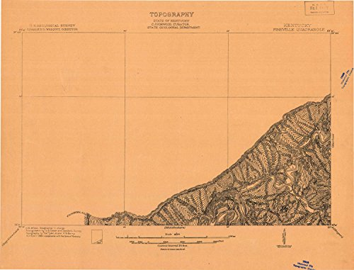 YellowMaps Pineville KY topo map, 1:48000 Scale, 15 X 15 Minute, Historical, 1903, 31.9 x 41.9 in - Polypropylene
