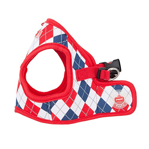 Puppia Authentic Argyle Harness B, Large, Red