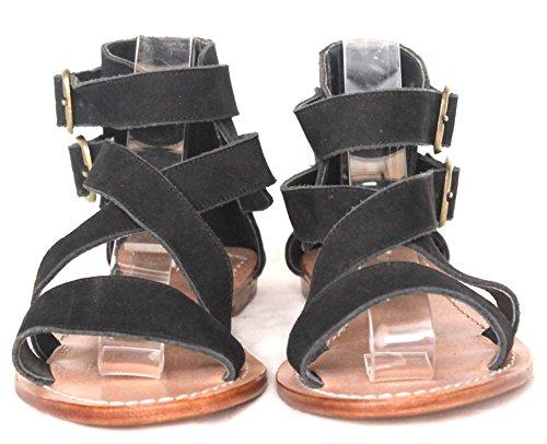 11sunshop Mujer Sandalias negro
