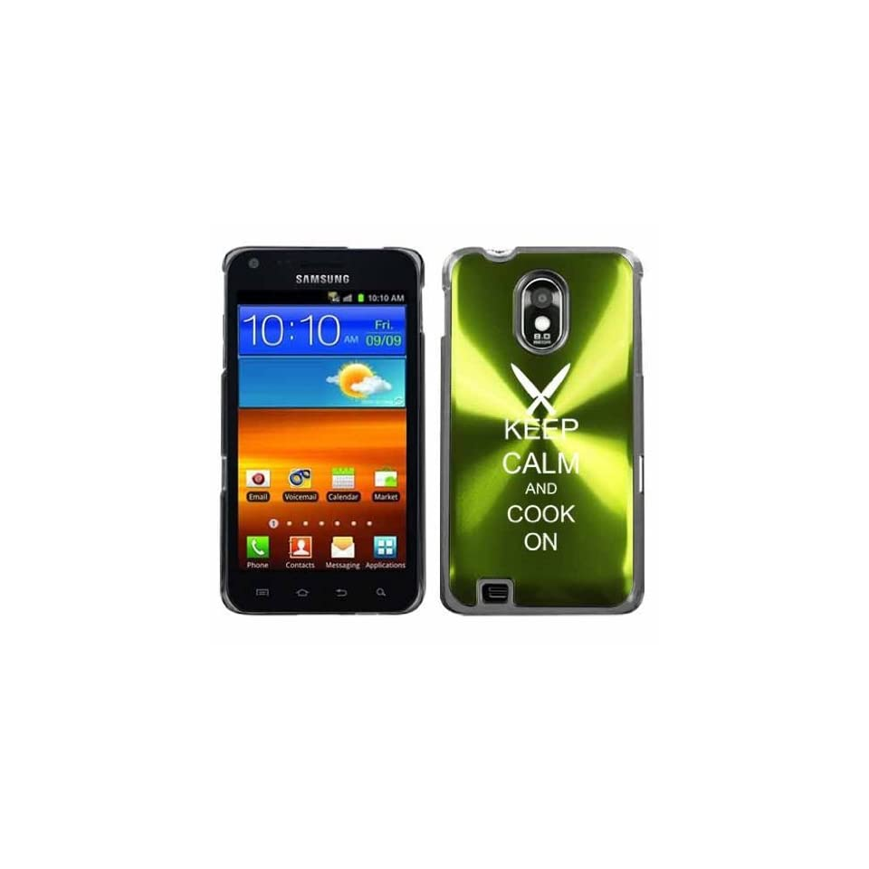 Green Samsung Galaxy S II Epic 4g Touch Aluminum Plated Hard Back Case Cover H257 Keep Calm and Cook On Chef Knives Cell Phones & Accessories