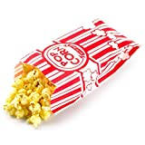 popcorn add on - ChefLand 100-pack Paper Popcorn Bags – 2 Ounce - Attractive Design for Your Hot Fresh Popcorn – with 100 Little Salt Packets