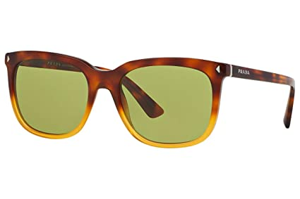 c89ccfbdef Amazon.com  Prada PR 12RS - TKU4K2 Sunglasses JOURNAL LIGHT HAVANA ...