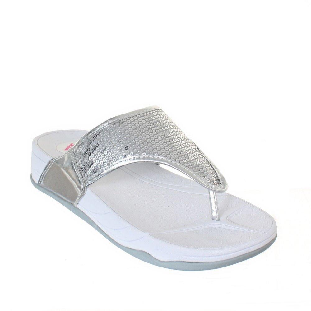 6ca3983aa6d Womens Dunlop Sequin Fitness Toning Flip Flops SIZE 6: Amazon.co.uk ...