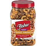 FISHER Snack Honey Roast Mixed Nuts, 0g trans fat, 24 oz Canister