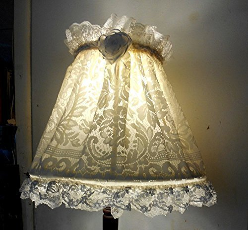 Amazon lamp shade cover shabby chic french boudoir country lamp shade cover shabby chic french boudoir country cottage off white lace aloadofball Choice Image