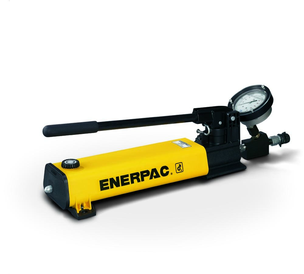 Enerpac HPT-1500 High Pressure Hand Pump with Gauge and 20,000 Pounds Per Square Inch Pressure Rating