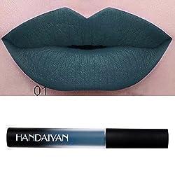 Hunputa Hot Sale! Sexy Trendy Colors Waterproof Long Lasting Velvet Matte Liquid Lipstick Makeup Lip Gloss, Makeup Bloggers Favorite (A)