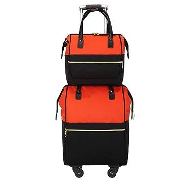Flight Case Equipaje De Mano Mixto Carrito/Mochila Convertible Casual Y Bolso De Viaje Mommy