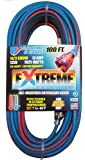 US Wire 98100 14/3 100-Foot SJEOW TPE Cold Weather Extension Cord Blue with Lighted Plug