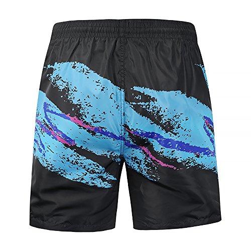 avec pour Hawaii UV de Short Short hommes de Summer de cordon bleu bain Short Ocean d'encre plage protection Plus vN80yOmwn