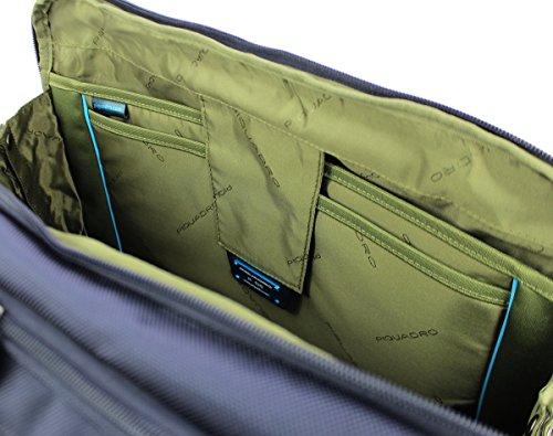 Piquadro Brief Aktentasche RFID 42 cm Laptopfach Blue Mmmpab79