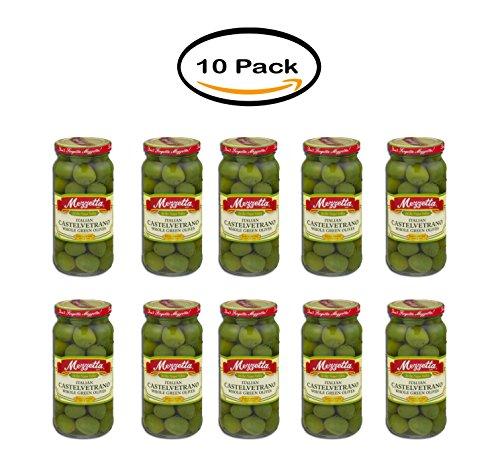 PACK OF 10 - Mezzetta Italian Castelvetrano Whole Green Olives, 10.0 OZ