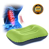 SLB inflatable pillow - Your perfect travel companion. Functional features that matter most: The air pillow has a great design with an ergonomic profile, best for for back, stomach and side sleepers. Also use as lumbar support for more ergonomic sitt...