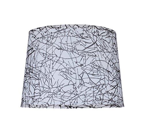 Aspen Creative 32148 Hardback Shaped (Spider) Shade in Off-White, 12 x 14 x 10 Black & White ()