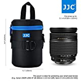 JJC 80x152mm Deluxe Lens Pouch Case Bag with 120cm Shoulder Strap for Canon Nikon Sony Fujifilm Pentax Olympus Samsung Panasonic Lens