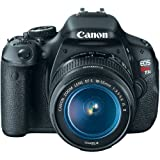 Canon EOS Rebel T3i Digital SLR Camera with EF-S 18-55mm f/3.5-5.6 IS Lens(Certified Refurbished)