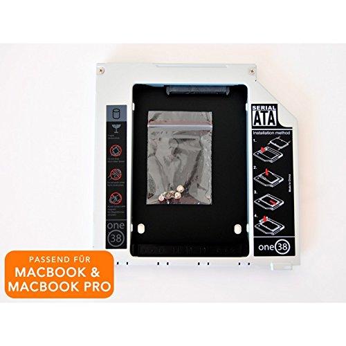 2nd HDD/SSD Caddy für Apple MacBook & Macbook Pro statt SuperDrive, SATA II von one38