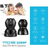 SANNCE 2-Pack Wireless 1080P HD Smart Home WiFi IP Security Camera System with 2 - way Audio, Infrared Night Vision and Motion Detection