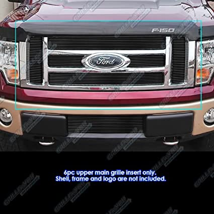 2012 F150 Grill >> Aps Fits 2009 2012 Ford F 150 Lariat King Ranch Black Billet Grille Grill Insert F66788h