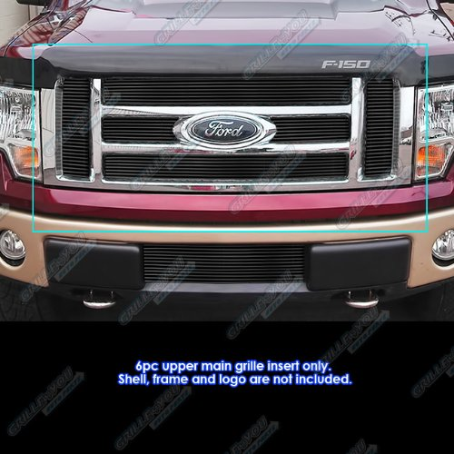 Fits 2009-2012 Ford F-150 Lariat/King Ranch Black Billet Grille Grill Insert #F66788H
