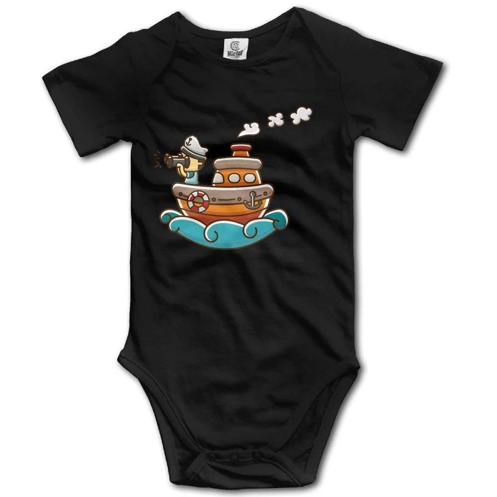 gineaqw Steamship Sailor Newborn Baby Sleeveless Jumpsuit Romper