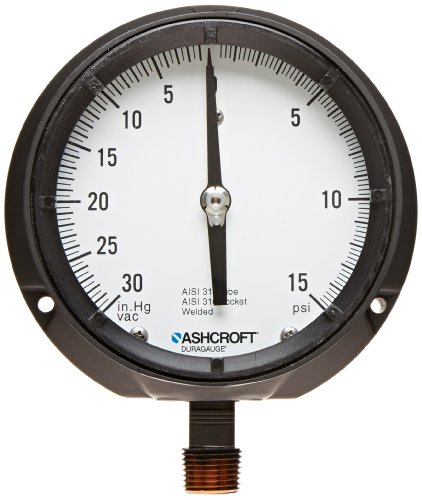 Ashcroft Compound Gauges : Ashcroft duragauge type solid front aluminum case